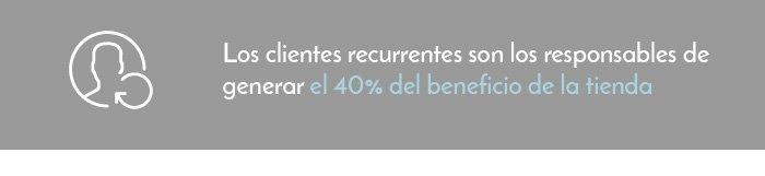 40% Beneficio clientes habituales